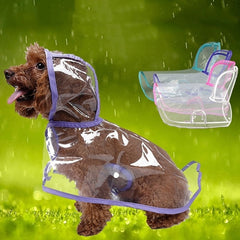 Transparent PVC Waterproof Pet Raincoat