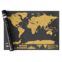 World Map Scratch Off Deluxe World Map Poster