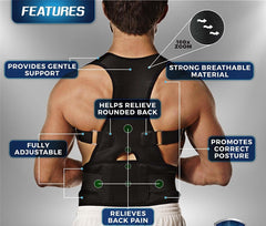 Back Brace Posture Corrector Fully Adjustable Support Brace