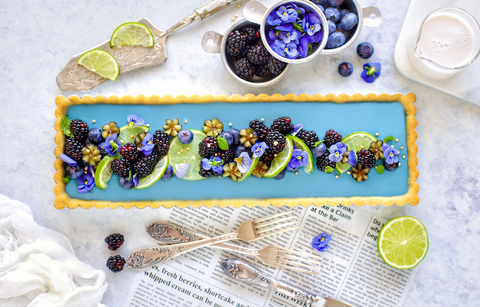 Blue Spirulina Vegan Tart Lime