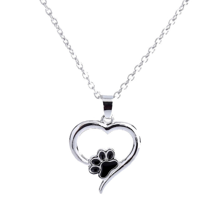 Necklace Personalized Dog Heart Paw
