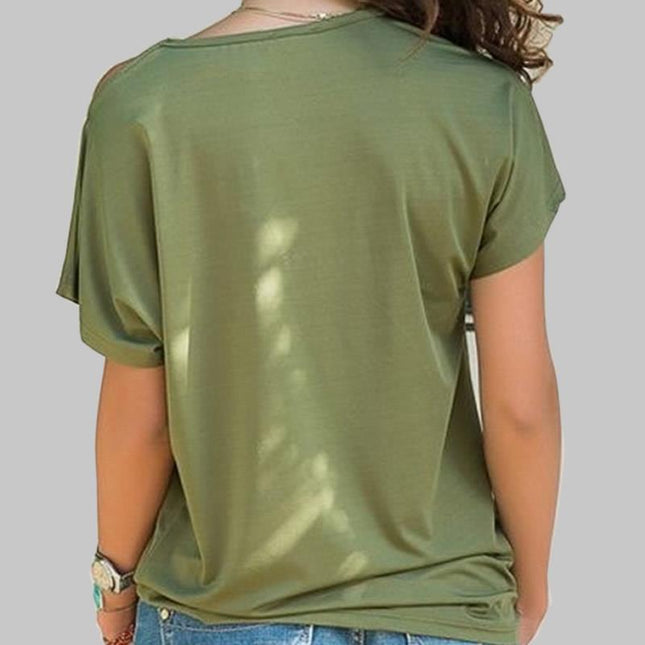 T-shirt Cross-shoulder Irregular