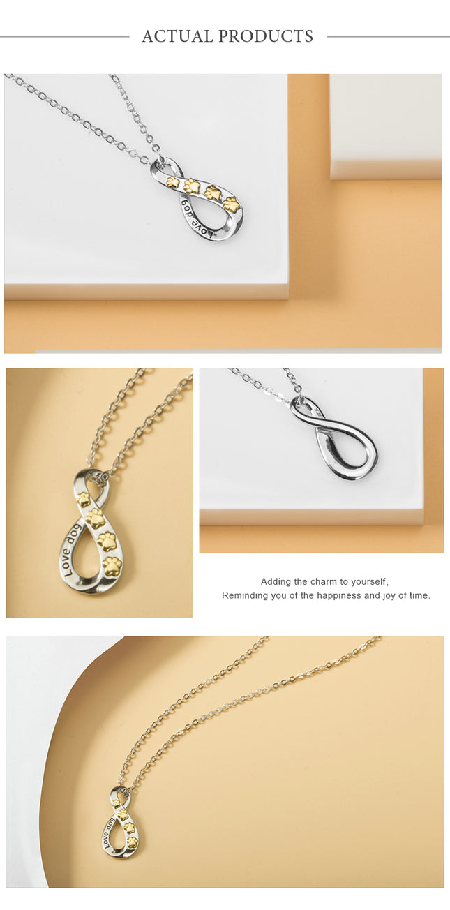 Infinity Dog Necklace
