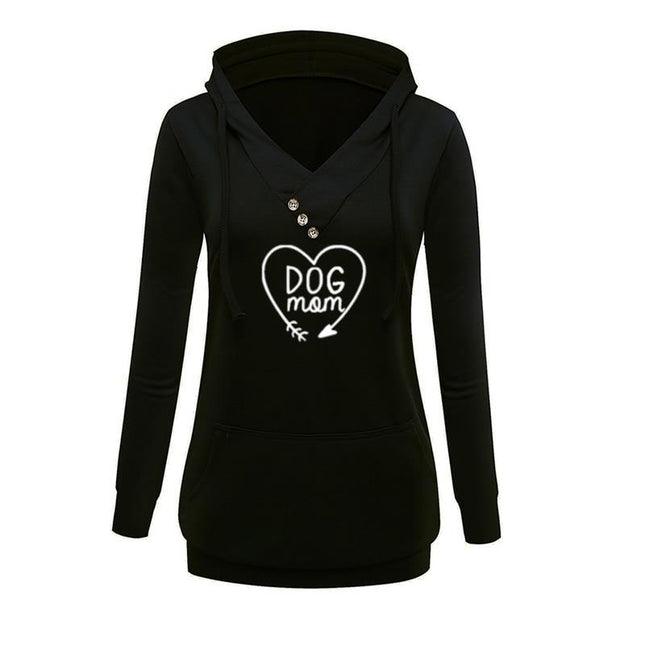 Dog Mom Hooded Sweatshirt