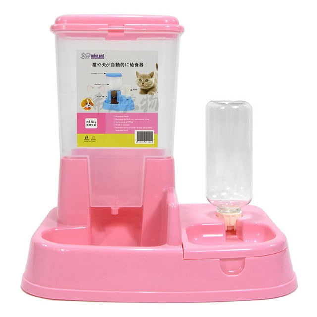 K9 Dog , Cat Adjustable Automatic Feeder and Drinking Fountains