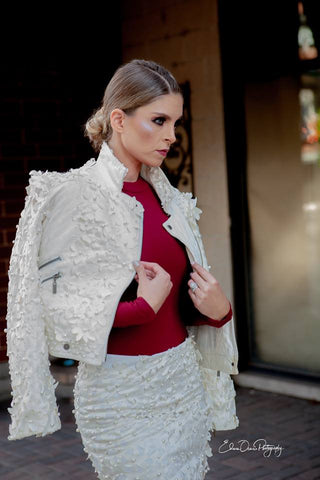 White Lotus Moto Jacket