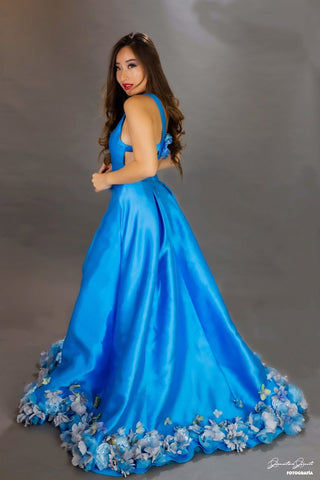 Image of Blue Lilies Fairytale Gown