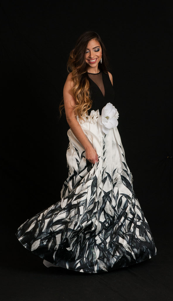 "Rental ""Winter Black Willow Gown"""