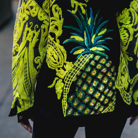 Image of Crave Me Hand Painted Pineapple Denim Jacket