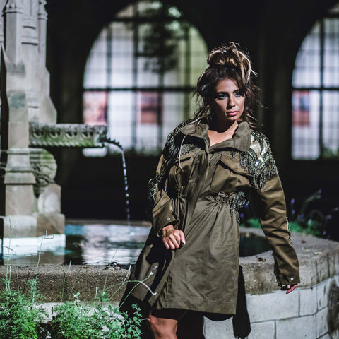 "Rental ""Glam Gamble Utilitarian Safari Jacket"""