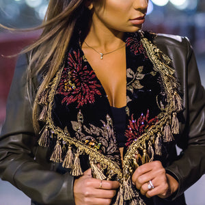 Lush Theatrics Velvet Collared Blazer Jacket