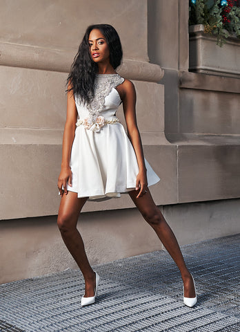 Linen and white dress