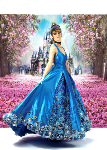 Blue Lilies Fairytale Gown