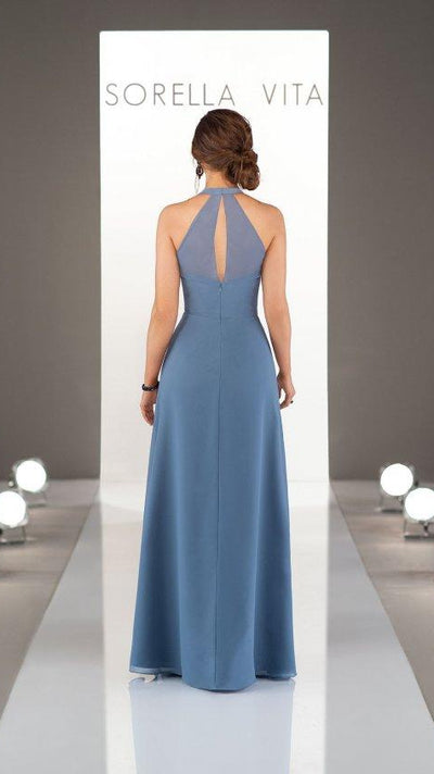 Sassy Bridesmaid Dress with Halter Neckline Sorella Vita 9224