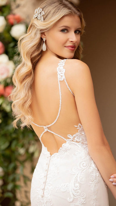 Lace and Tulle Fit and Flare Wedding Dress Stella York 7100
