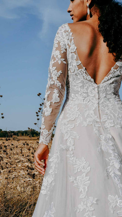 Romantic Lace Wedding Dress with Optional Long Sleeves Stella York 7169