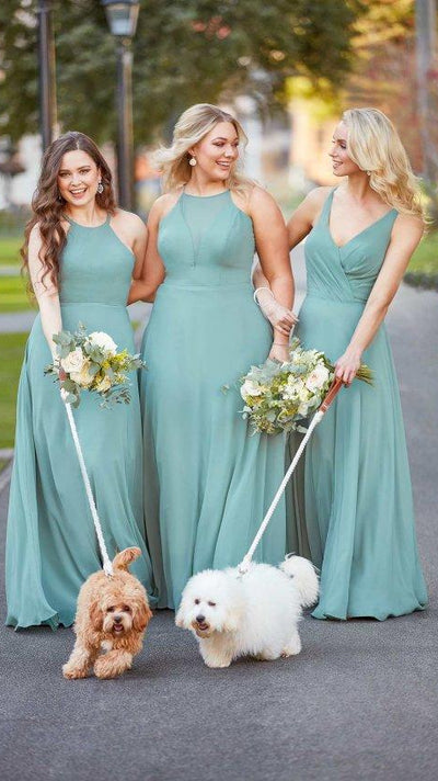 Modern Bridesmaid Dress with Sheer Panelling 9292
