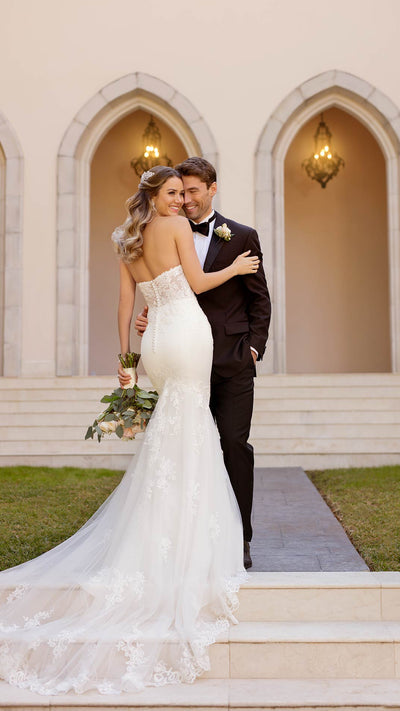 Stella York Mermaid Wedding Dress with Soft Sparkle 6867