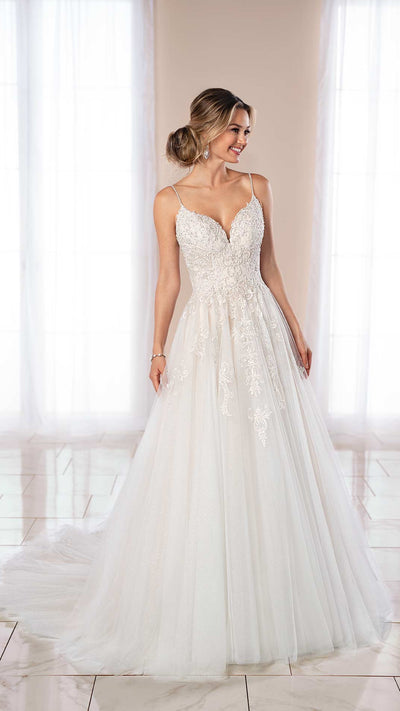 Classic Stella York Princess Ballgown with High Sparkle 6959