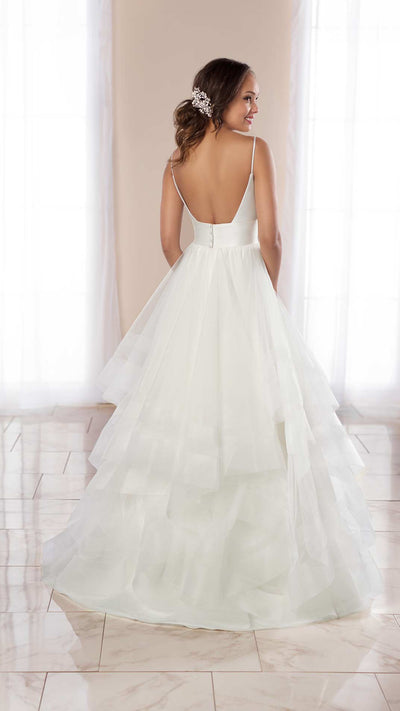 Modern Stella York Ballgown 6988 with Mixed Fabrics