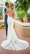 Stella York Modern Mixed Fabric Wedding Gown with High Neck 6999