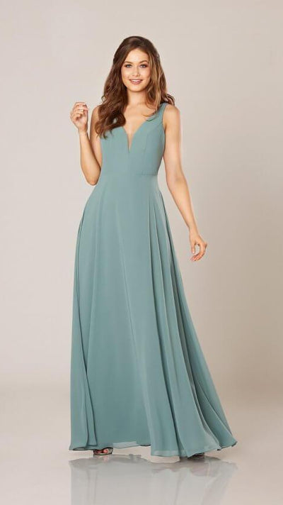Formal Bridesmaid Dress with Open Back 9320