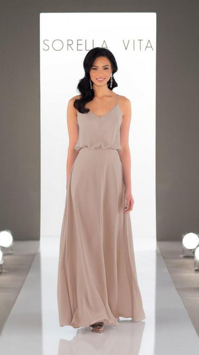Strappy Boho Bridesmaid Dress 9132