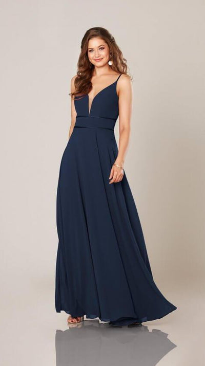 Bridesmaid Dress with Double Banded Waist 9306