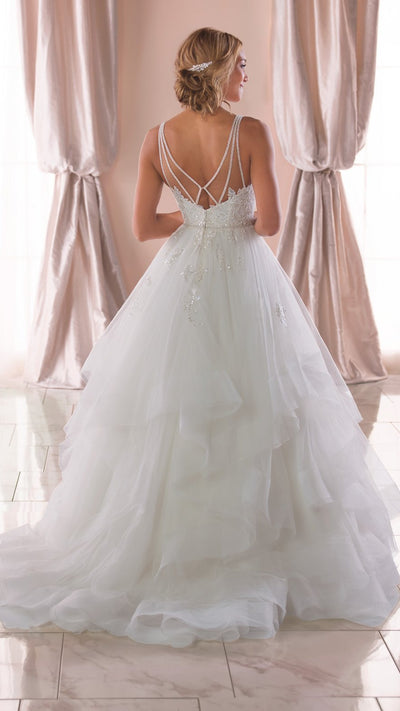 Shimmering Sequin Ballgown Wedding Dress 6838