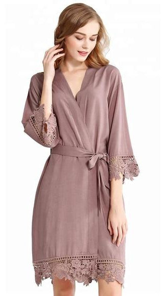 Mauve Bridal Party Bridesmaid Robe