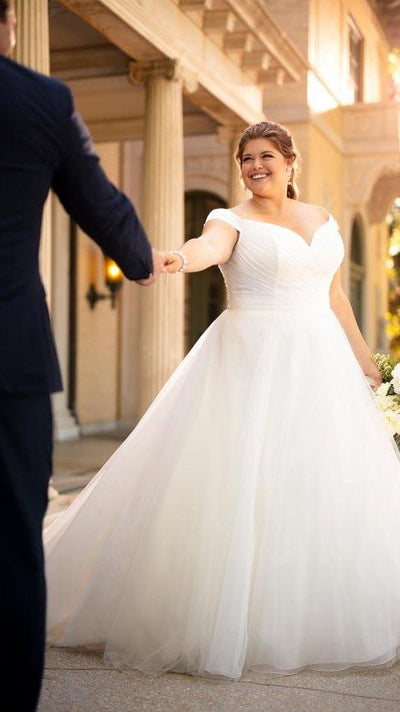 Stella York 6901 Ruched Ballgown With Off The Shoulder Straps