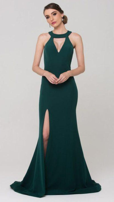 Tania Olsen - Taylor Low Back Halter Formal Dress PO588-B1
