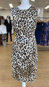 Jendi 11-171 Leopard Print Cocktail Dress