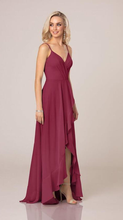 High-Low Bridesmaid Dress With Ruffle Details - Sorella Vita 9290