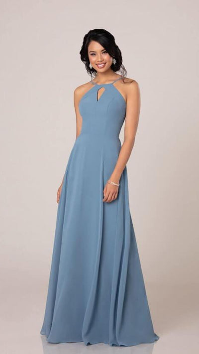 High Halter Bridesmaid Dress With Keyhole - Sorella Vita 9270