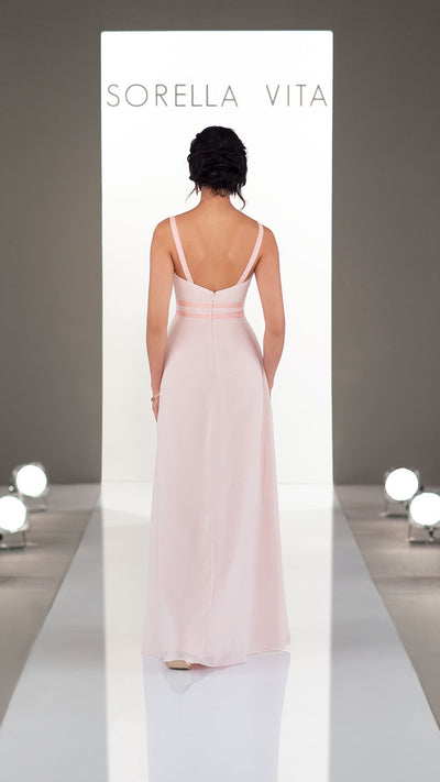 Classic Sorella Vita Bridesmaid Dress with Velvet Detail 9250
