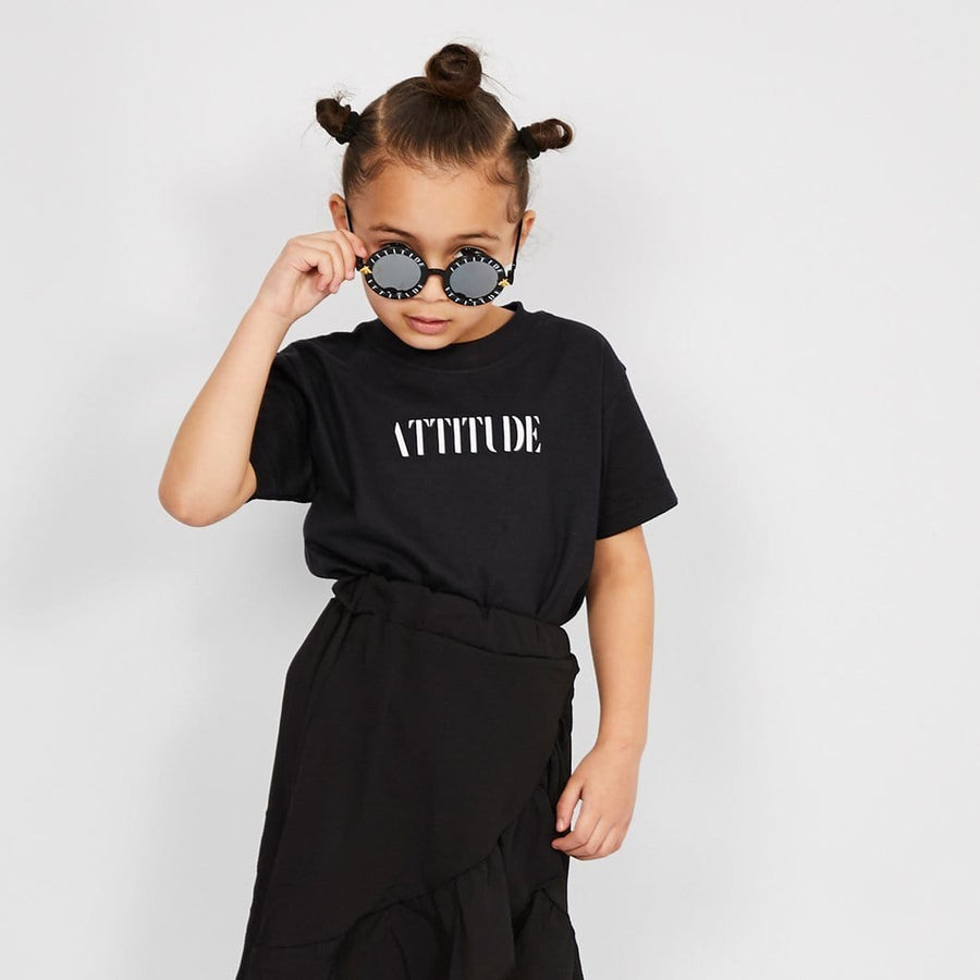 LA Attitude Sunglasses Shiny Black