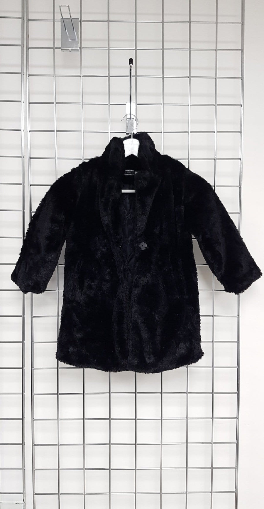 Yara Cosy Longline Oversized Faux Fur Coat Black