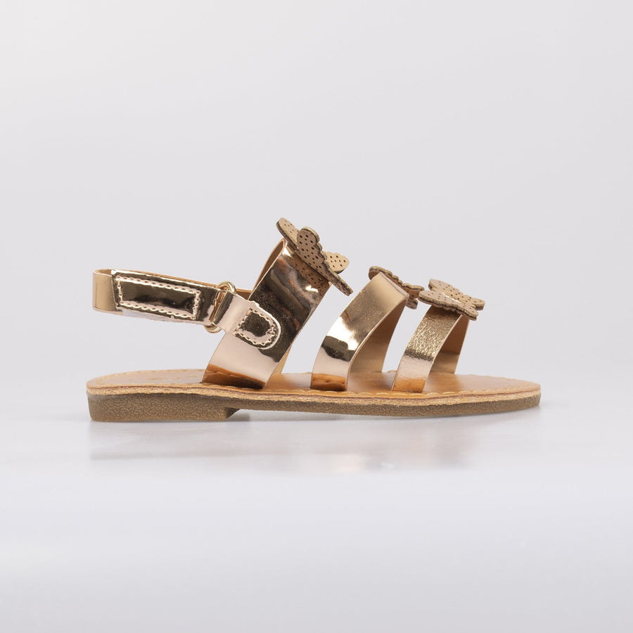Isobel Butterfly Sandals Champagne - Little Attitude