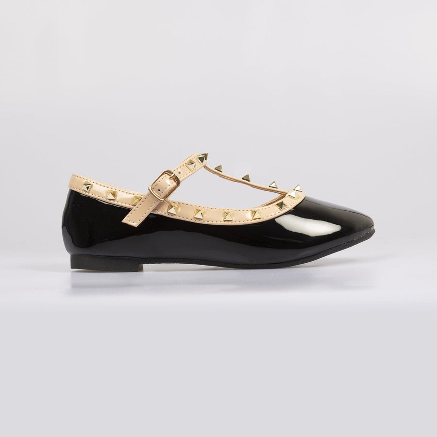 Valentine Rockstud Pumps Black - Little Attitude