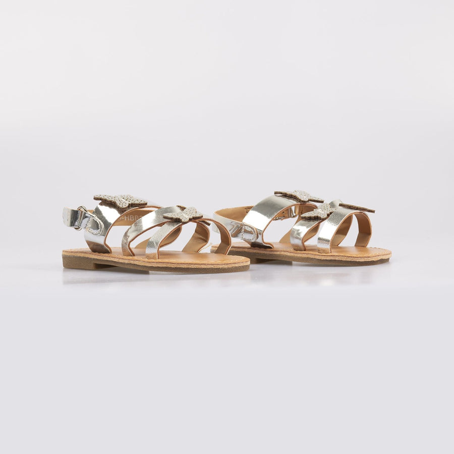 Isobel Butterfly Sandals Silver - Little Attitude