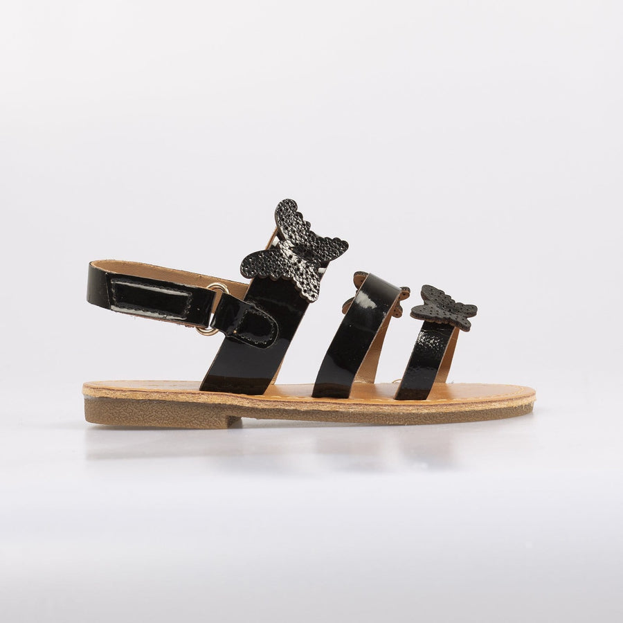 Isobel Butterfly Sandals Black - Little Attitude