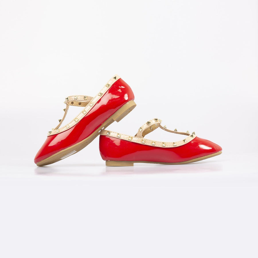 Valentine Rockstud Pumps Red - Little Attitude
