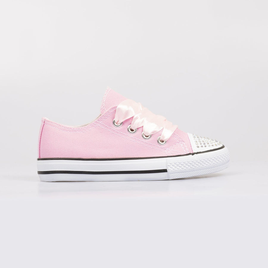 Daisy Diamante Toe Sneakers Pink - Little Attitude