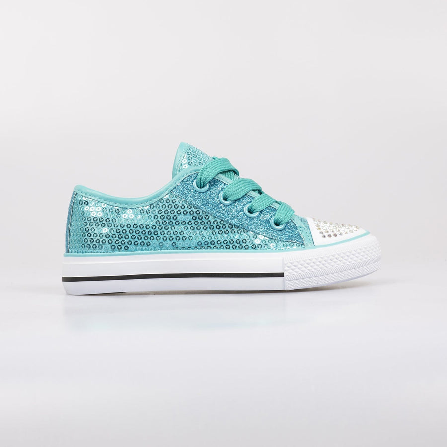 Lola Sequin Sneakers Blue - Little Attitude