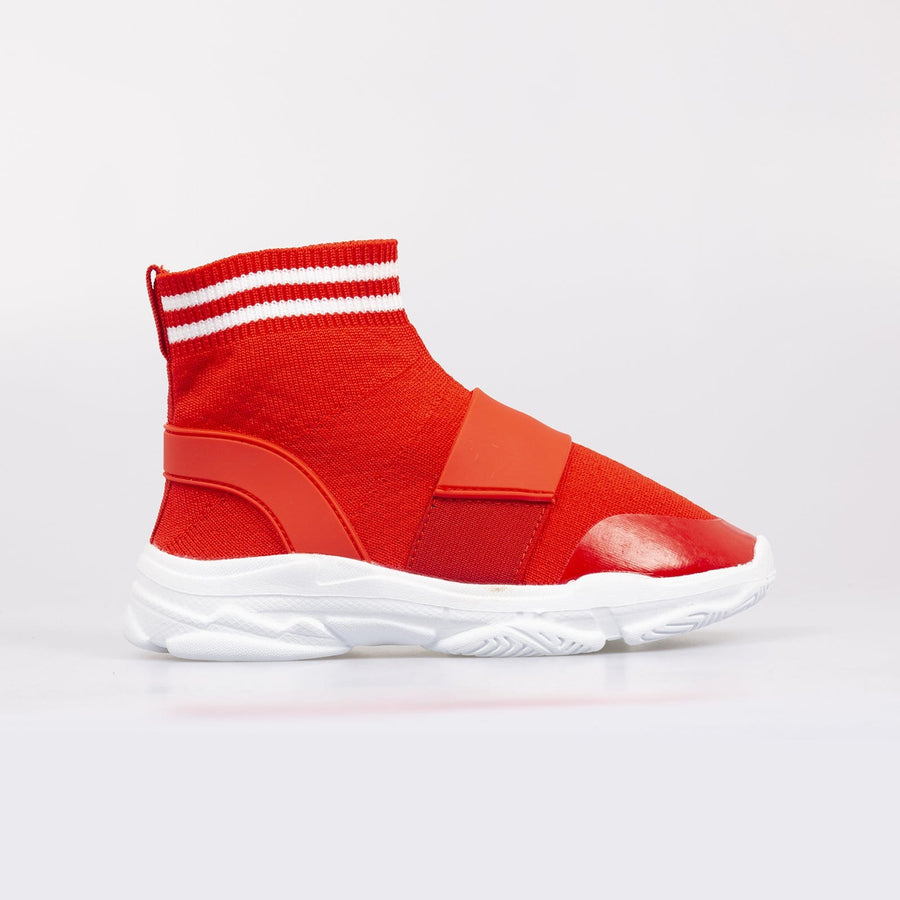 Brooklyn Sock Sneakers Red - Little Attitude