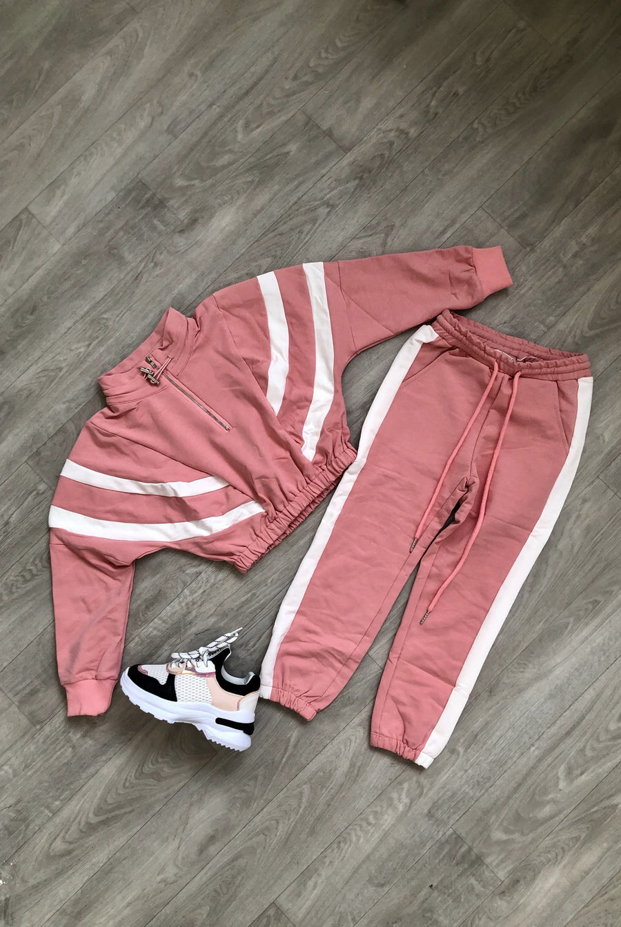 Fleur Sport Look Tracksuit Pink From Little Attitude