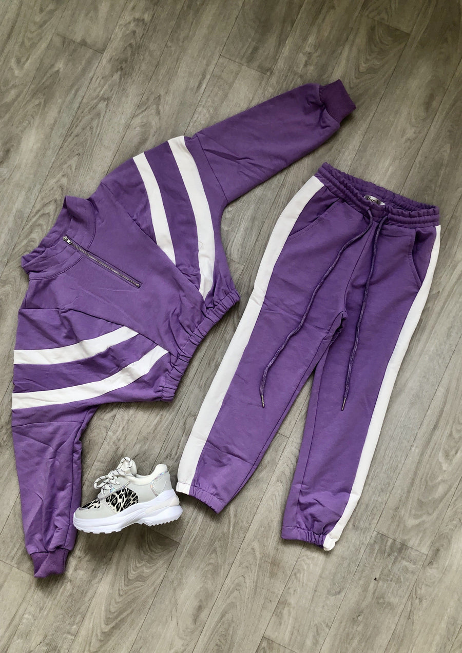 Fleur Sport Look Tracksuit Purple From Little Attitude