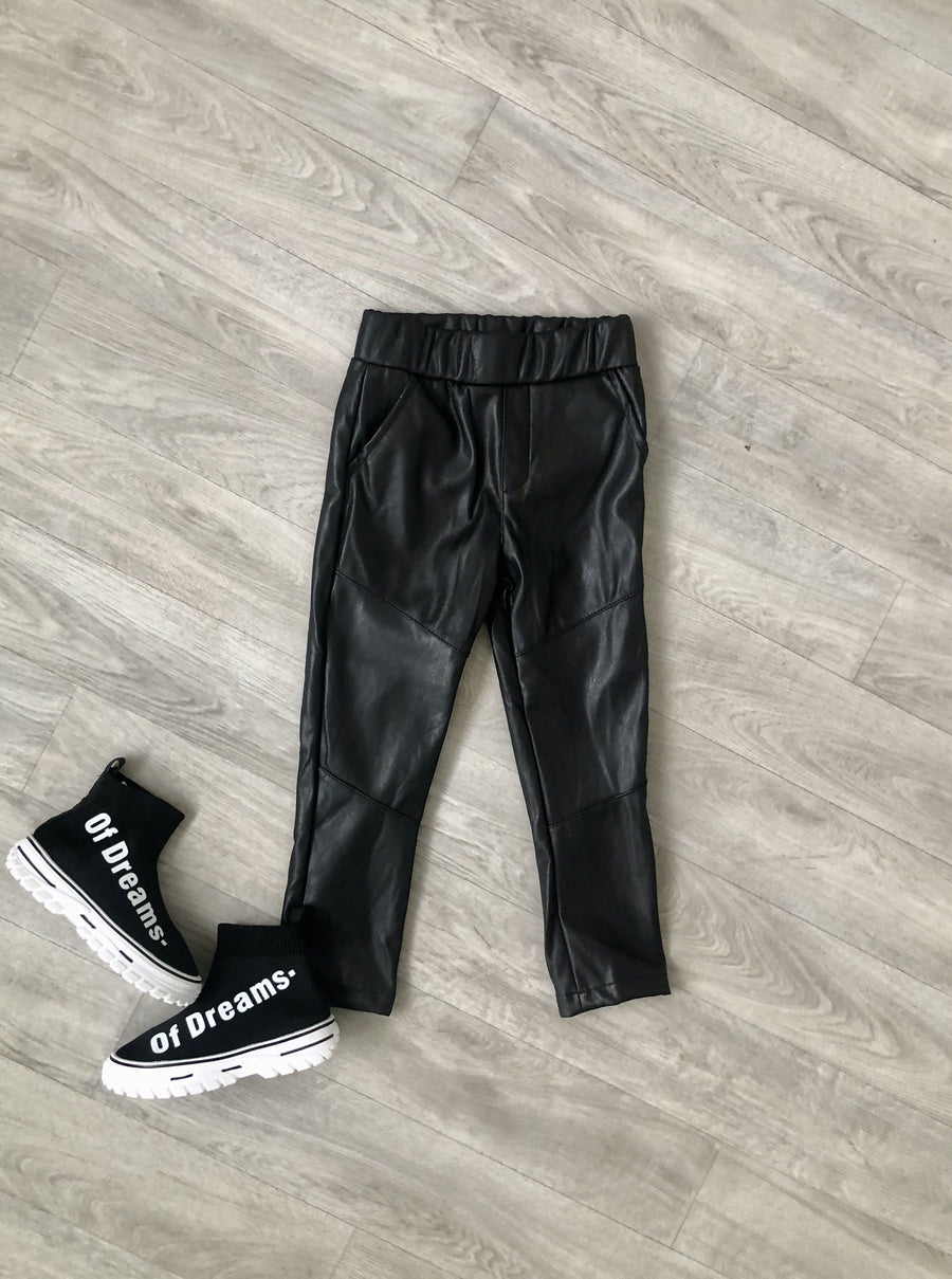 Remi Faux Leather Trousers Black From Little Attitude