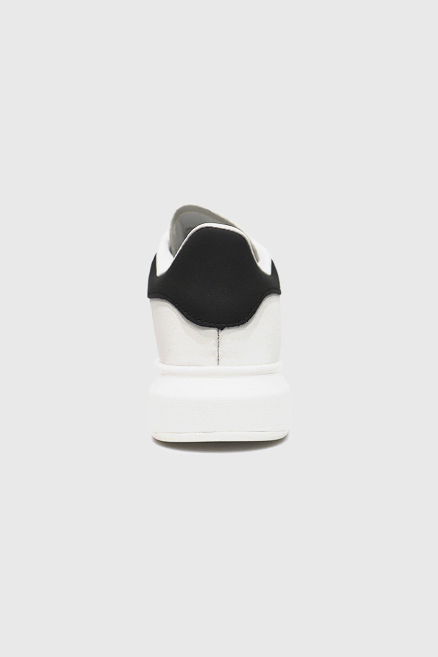 Tanny Low Top Chunky Sole Trainer in White/Black